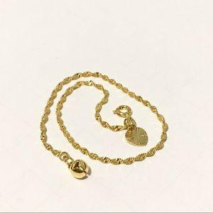 New gold filled heart bell anklet bracelet